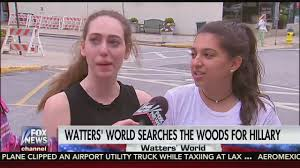 jesse watters searches the woods for hillary clinton in chappaqua
