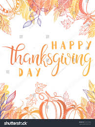 thanksgiving typographyhappy thanksgiving day painted stock