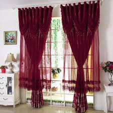 European Lace Curtains New Korean Lace Curtains Purple Blue Finished Curtains