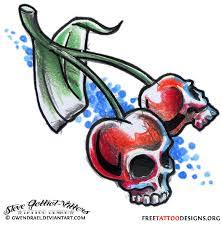 55 cherry designs their meaning cherry skulls design skulls