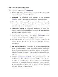 Monitor Tech Resume 5 Functions Of An Entrepreneur Entrepreneurship Business