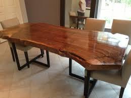 live edge dining table walnut slab table wood slab table zoom
