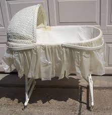 vintage baby bassinets set with iron bassinet base and small