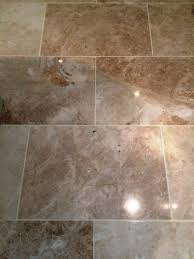 cleaning polishing and sealing a marble floor and wall tiles in