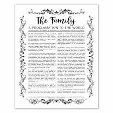 framed family proclamation lds family posters the family proclamation to the world the