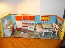 vintage mid century dollhouse furniture modella kitchen roombox