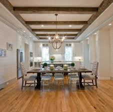 lighting on exposed beams cool lighting for exposed beam ceilings dining room traditional with