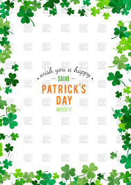 st patrick u0027s day background with clovers vector image 108718