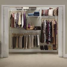 closetmaid shelftrack 5 8 ft closet organizer kit hayneedle