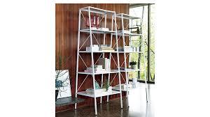 United States Bookshelf Hancock White Bookcase Cb2