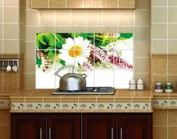 Decorative Tiles For Kitchen - buy 45 75cm white chrysanthemum kitchen decoration aluminum foil