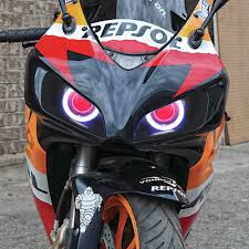 kt headlight suitable for honda cbr1000rr 2004 2007 led angel eyes