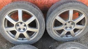 subaru impreza wheels genuine enkei rfrb alloy wheels with tyres 5x100 17