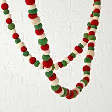 traditional festive felt christmas garland the land of nod