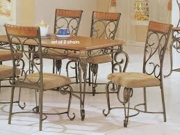 iron dining room chairs iron table and chairs wrought iron dining room sets old country