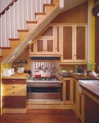 well suited kitchen design under stairs ideas for use space with