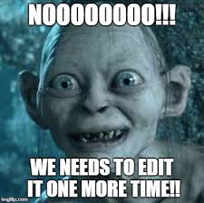 Photo Edit Meme - gollum meme imgflip