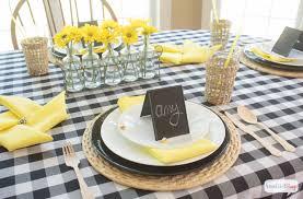 yellow decor ideas black yellow table decoration ideas