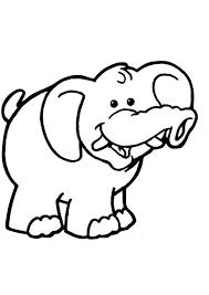 Coloriage elephant pour les enfants sur Hugolescargotcom