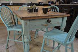 blue painted dining table dining room attractive distressed dining table with wood blue
