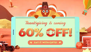thanksgiving day promotion grab wonderful gifts with up to 60
