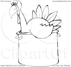 clipart of a black and white thanksgiving turkey bird