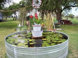 Backyard Ponds And Fountains Sort Of Love This Industrial Farm Chic Outdoor Pond Made From