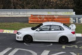 slammed subaru hatchback spied subaru wrx sti spec c spotted testing on the nürburgring