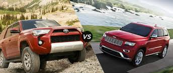 jeep toyota 2015 jeep grand cherokee vs 2015 toyota 4runner