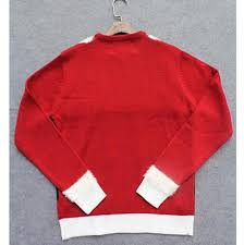 red pullover ugly christmas sweater for women crew neck funny