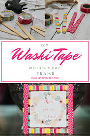 mother u0027s day frame with diy washi tape for a picture perfect gift