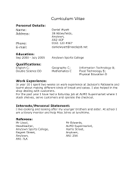 Resume Samples Student by Resume Template After First Job