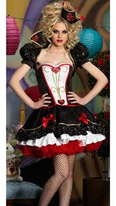 dazzling dark queen costume red heart queen costume womens queen