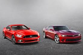 road test 2015 mustang 2015 ford mustang vs 2015 chevrolet camaro car statement