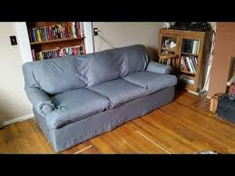 How To Make A Slipcover For A Sectional Best 25 No Sew Slipcover Ideas On Pinterest Couch Cushion