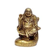 Buddha Statues Home Decor Unique Brass Hand Carved Laughing Buddha Statue Gift For Luck