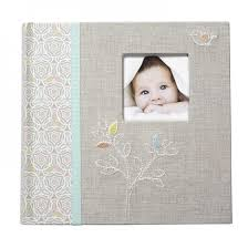 cr gibson photo albums bound photo journal album linen tree