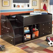 Kids Bedroom Furniture Storage Signature Design By Ashley Embrace Twin Loft Bed With Left Storage
