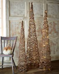 grapevine trees lighted grapevine cone trees 3 set