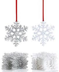 box of 12 snowflake ornaments for the