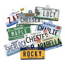Vanity Plates Maine Amazon Com License Plate Custom Dog Tags For Pets Personalized