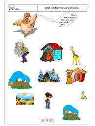 opposites worksheet kindergarten u0026 kindergarten antonym worksheet