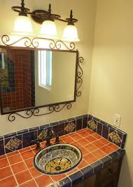 Industrial Style Bathroom Vanity bathroom vanity using mexican tiles by kristiblackdesigns com