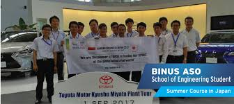 visit lexus factory japan binus aso students summer course in japan