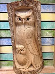 owl wood carving wood carved ornaments ebay