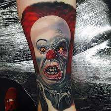 75 clown tattoos for men comic performer design ideas