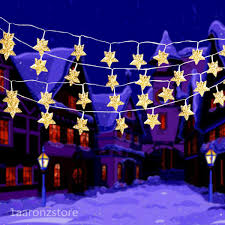 decoration 138 led curtain star string fairy light big bulb white