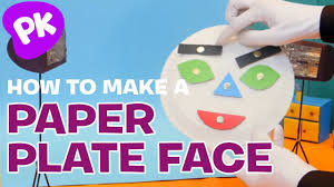 how to make a paper plate face with shapes easy crafts for kids