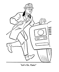 Green Hornet And Kato Coloring Pages Green Hornet And Kato Go To Green Coloring Page