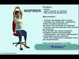 exercice au bureau relaxation au bureau s etirer assis